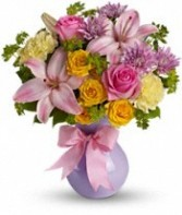 Perfectly Pastel vase arrangement