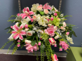 Perfectly Pink Casket Spray
