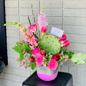 Perfectly Pink Prickly Pear  in Stephenville, TX | University Flowers & More