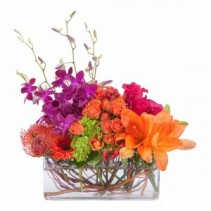 Perfectly Prismatic Fresh Flower Arrangement