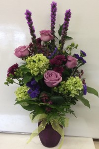 Perfectly Purple Vase Arrangement
