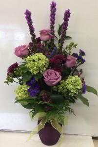 Perfectly Purple Vase Arrangement