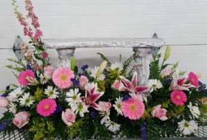 Perhaps Memorial Bench  in Monroe, MI | Deb's Floral Design
