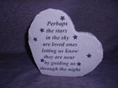 """Perhaps The Stars"" Heart Stone Sympathy"
