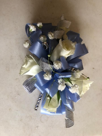 Periwinkle Perfection Wrist Corsage