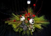 Permanent Christmas Centrepeice Silk Centrepiece
