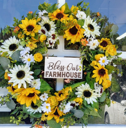 Permanent Farmhouse Style Wreath