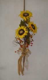 Permanent Sunflower Burst Door swag