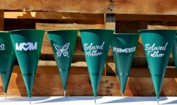 Personalized cemetery cones
