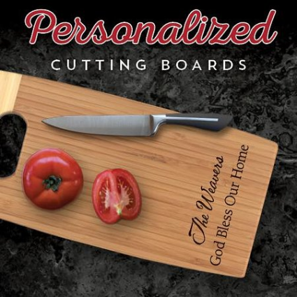 Personalized Cutting Board Wrapped Gift