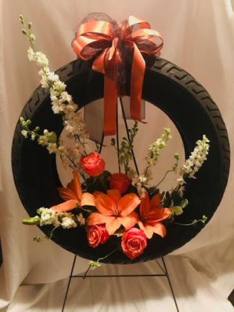 Personalized Wreath Standing Spray