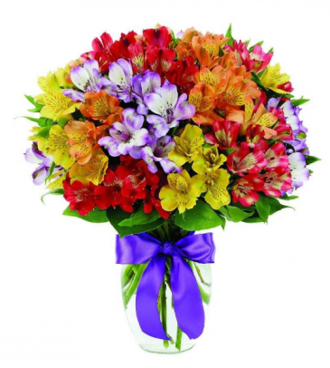 Peruvian Lilies Galore  Vase Arrangement