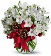 Peruvian Lily (Alstromeria) Winter Wonder Vase Arrangement