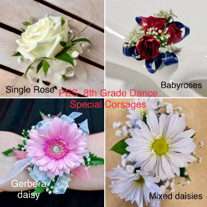 PES 8th Grade Dance Corsage  in Prospect, CT | MARGOT'S FLOWERS & GIFTS