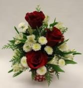Pet Lovers Mug with Roses Fresh Arrangement