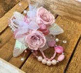 Petal Pink  Forever Rose Corsage