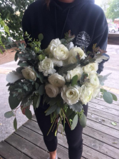 Petal White Bridal Bouquet
