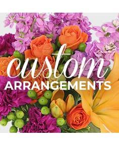 Petals & Co custom mixed floral design English garden mix