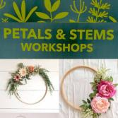 March 23  Petals & Stems Workshop   4pm.  Fairy Garden with succulents
