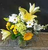 Petals & Vines Feels Like Spring Vased arrangement