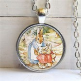 Peter Rabbit #29 18 inch silver plated necklace