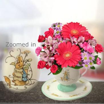 Peter Rabbit Teacup and Saucer Bouquet