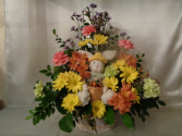 Peter Rabbits Garden Basket arrangement