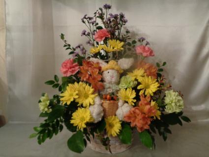 Peter Rabbits Garden Basket arrangement
