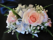 Petite Corsage Specify rose and ribbon color
