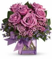 Petite Purple Roses Bouquet