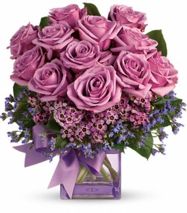 Petite Purple Roses Bouquet-- Pumped up