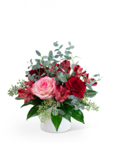Petite Red Velvet Flower Arrangement