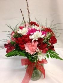 Petite Valentine's Medley Bouquet Vase Arrangement