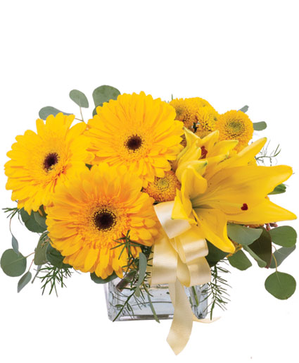 Petite Yellow Flower Arrangement