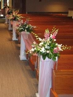 Wedding Aisle Flowers Ceremony Arrangements in Gretna NE TOWN