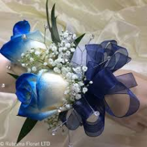 PFNB TIPPED BLUE CUSTOM TIPPED BLUE CORSAGE
