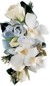 PHALAENOPSIS ORCHID & SPRAY ROSE CORSAGE