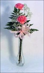 PHI MU- 2 Carnation Vase