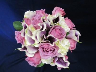 Picasso Calla and Lavender Roses  Bride/Bridesmaid Bouquet
