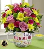 pick me up bouquet pick up
