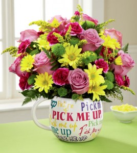 Pick Me Up Bouquet Two Gifts In One!!! in Springfield, IL | FLOWERS BY MARY LOU INC