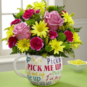 Pick Me Up Flower Mug  in Kanata, ON | Brunet Florist
