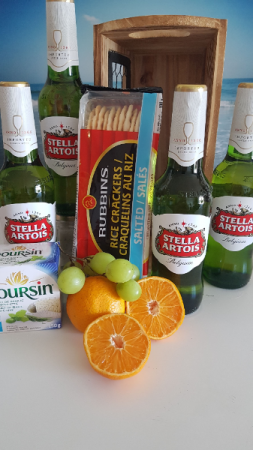 STELLA AND COMPANY Beer and snacks for two