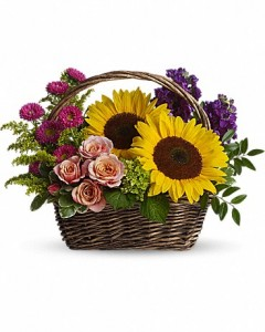 Picnic in the Park  Basket Arrangement in Jasper, TX | BOBBIE'S BOKAY FLORIST