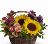 Picnic In The Park Basket Flower Arrangement