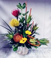 Pincushion Proteas & Gerbera Daisies Floral Design
