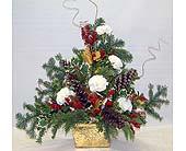 Pine Arrangement With Carnations Arrangement