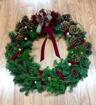 Pine Cone Delight Christmas Wreath 36 In Bend Or Autrys 4