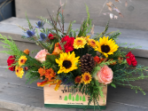 pine creek tree farm box centerpiece