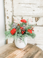 Pinecones and Berries Arrangement